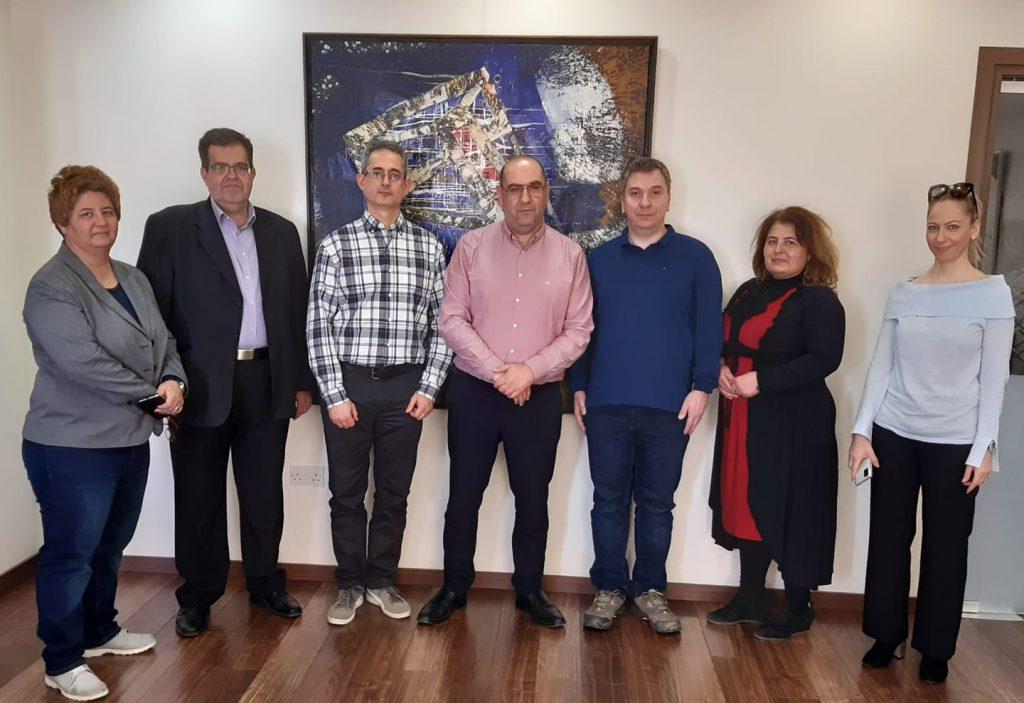 Από δεξιά: Γιάννα Νικολάου, Ανδρέας Λούκας, Αλέξανδρος Πούρος, Ανδρέας Βύρρας, Δρ.Ανδρέας Κωστόπουλος, Μαριάν Έρντεϋ, Νανά Ασμένη